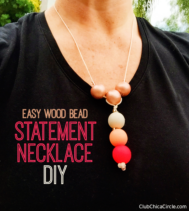 Easy Homemade Statement Necklace