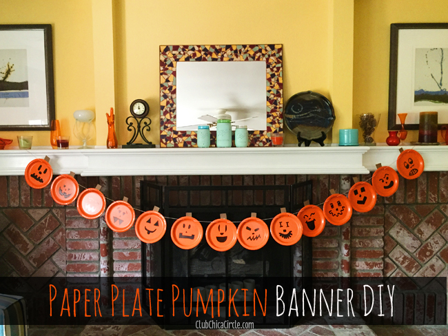 Easy Pumpkin Party Banner DIY
