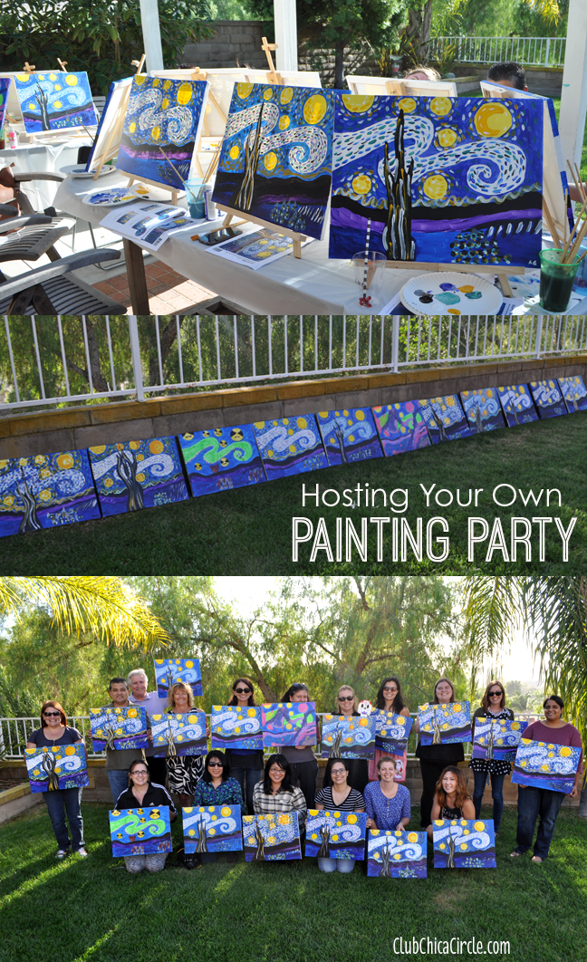 Hosting Your Own Fun Painting Party