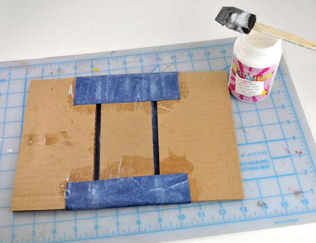 How to make Book concrete brick bookends step 2