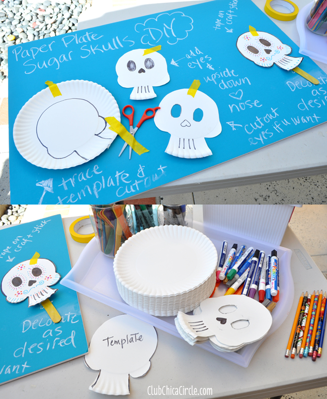 How to make your own Paper Plate Sugar Skulls