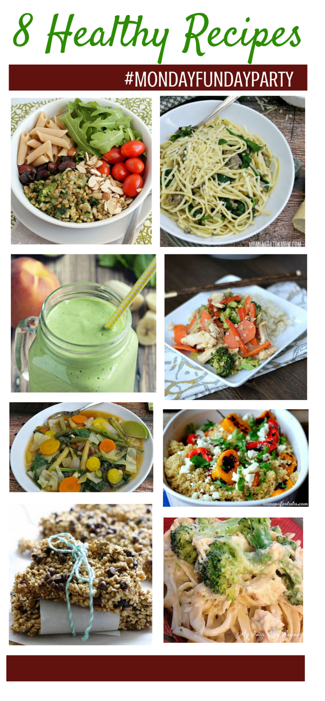8 Healthy-Recipes #mondayfundayparty