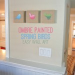 Ombre Painted Spring Birds Easy Wall Art DIY