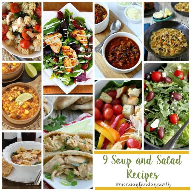 9-soup-and-salad-recipes #mondayfundayparty