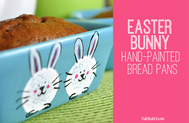 Easter Bunny hand painted bread pans for Easter