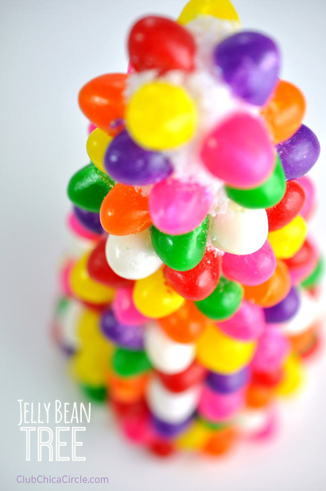 Jelly Bean Tree Easy Spring Craft Idea @clubchicacircle