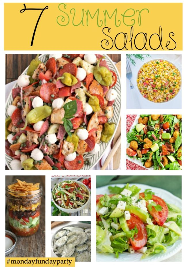 7-Summer-Salads-Recipe Ideas #MondayFundayParty