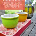 outdoor cement candle decor DIY #decoartprojects