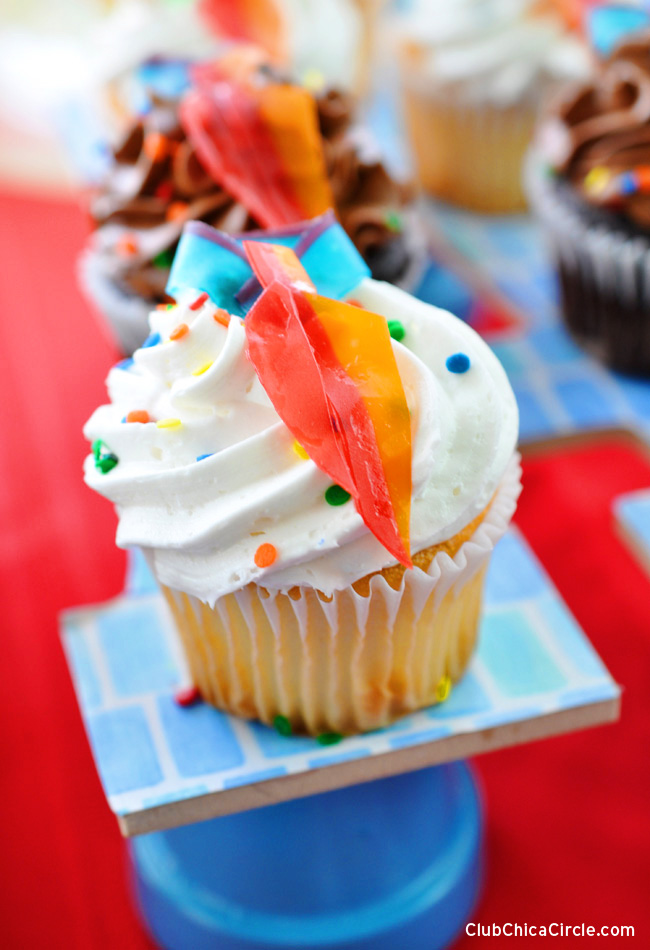 Easy Father's Day tie cupcakes DIY @clubchicacircle