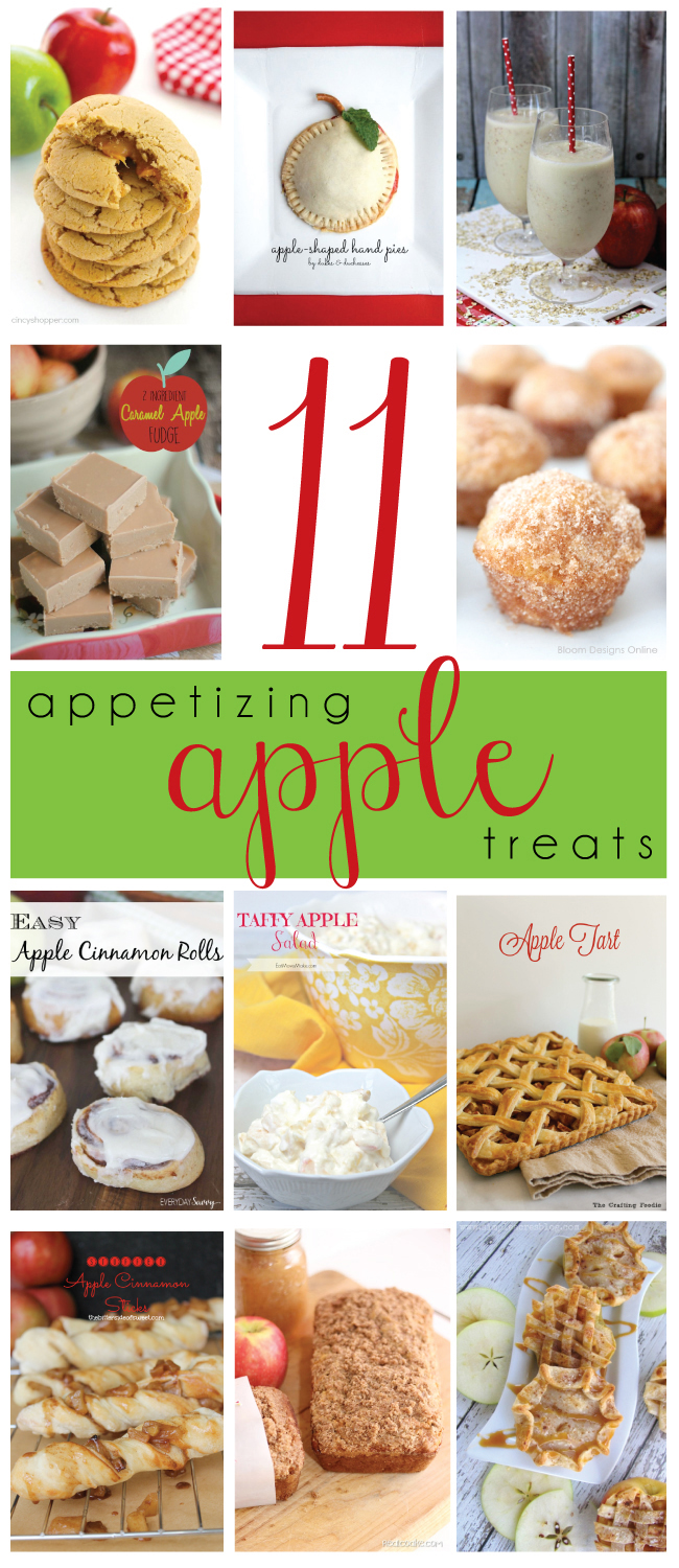 11-Appetizing-Apple-Treats-Round-Up #MondayFundayParty