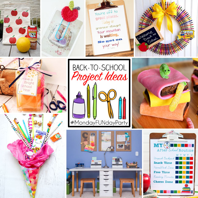 monday funday back to school square craft ideas