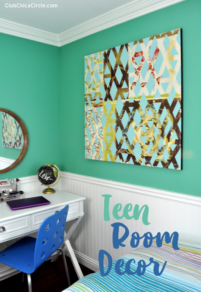 teen room decor with frogtape. Black Bedroom Furniture Sets. Home Design Ideas