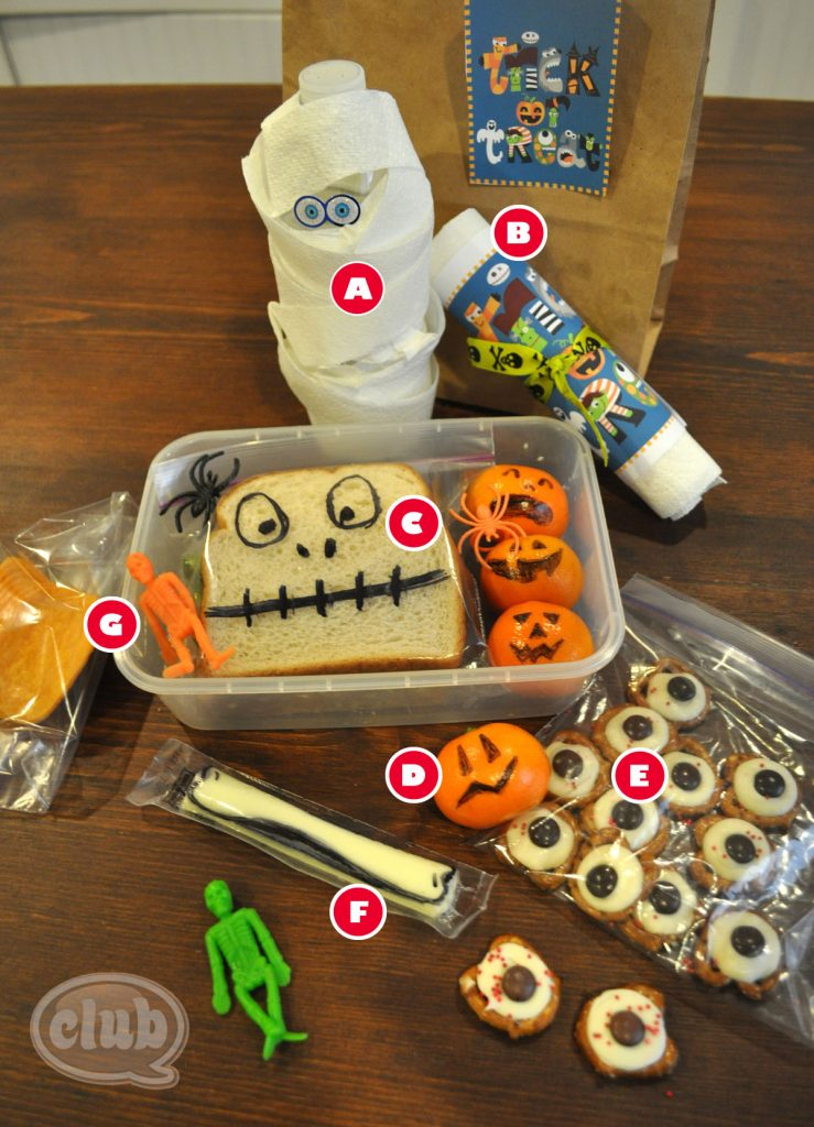 Simple Spooky Lunches with Printables