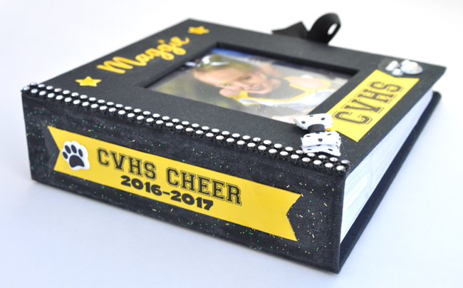 Cheer book cover with spine