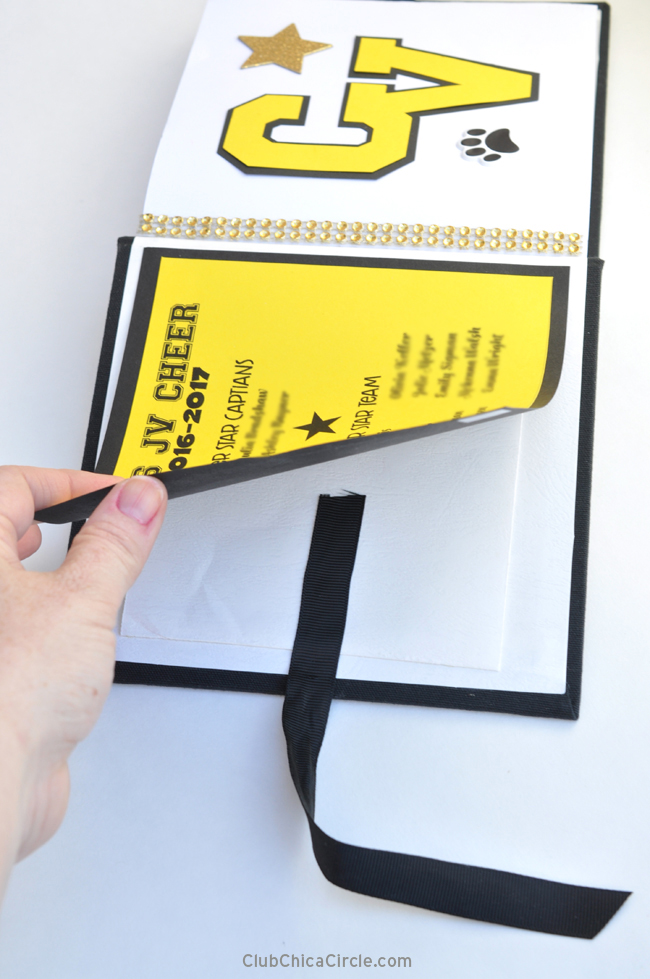 How to apply ribbon onto scrapbook