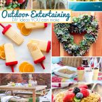 Summer Outdoor Entertaining DIY Ideas #MondayFunday