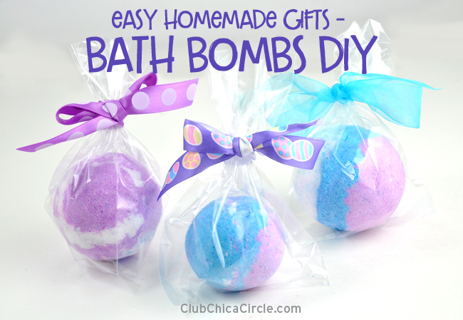 Homemade Bath Bomb Gift and craft Idea for teens - so fun!