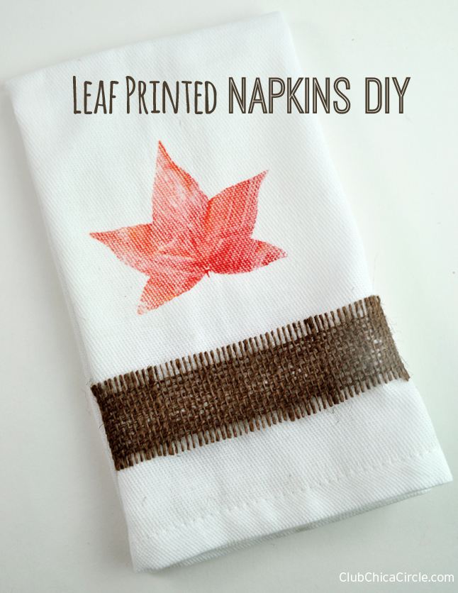 Fall Craft Ideas Leaf Napkins DIY