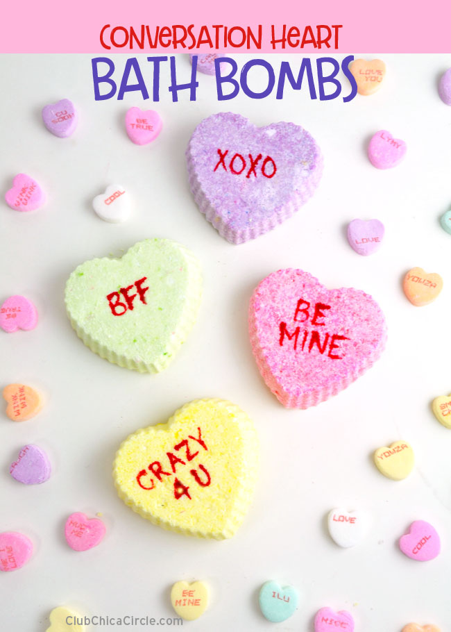 Valentines Day Conversation Heart Bath Bombs @chicacircle