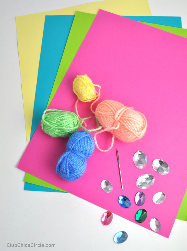 Easter Card Easy Craft DIY for tweens @chicacircle