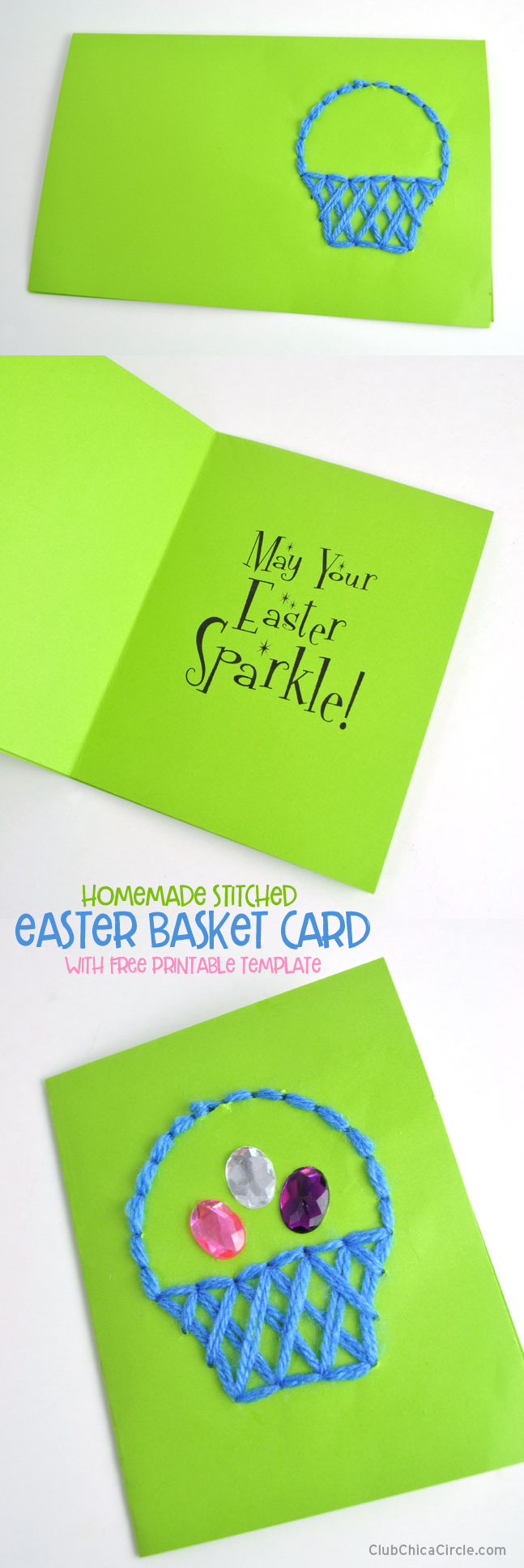 Easter homemade card tutorial – easy craft idea for kids @chicacircle