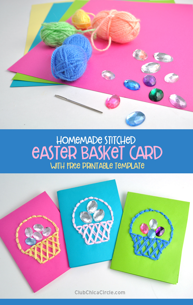 Jeweled Easter Card DIY – easy tween craft idea @chicacircle