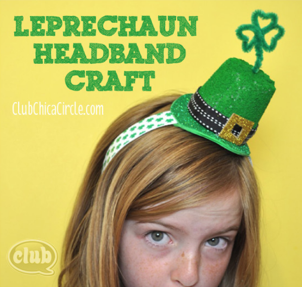 St Patricks Day Craft Leprechaun Headband