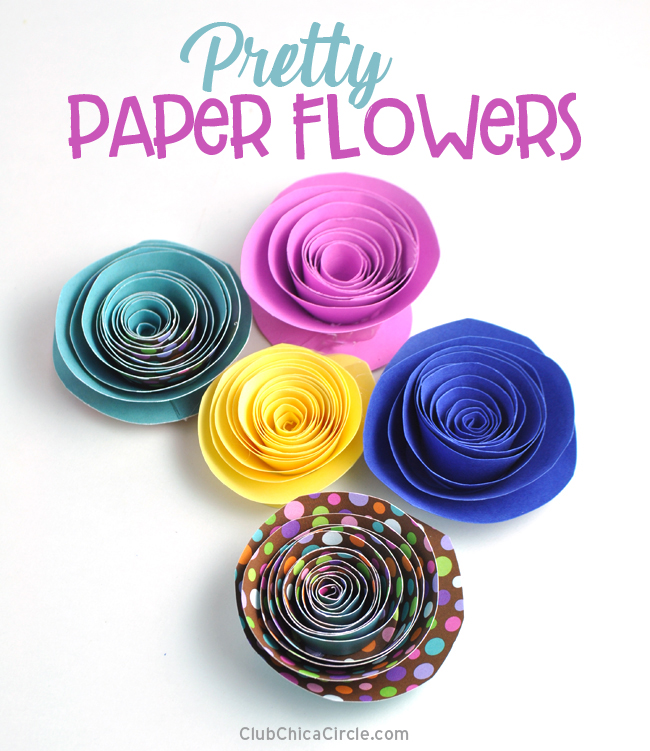 How to make pretty paper flowers – fun and easy DIY craft @chicacircle