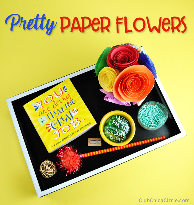 Learn how to make pretty paper flowers DIY
