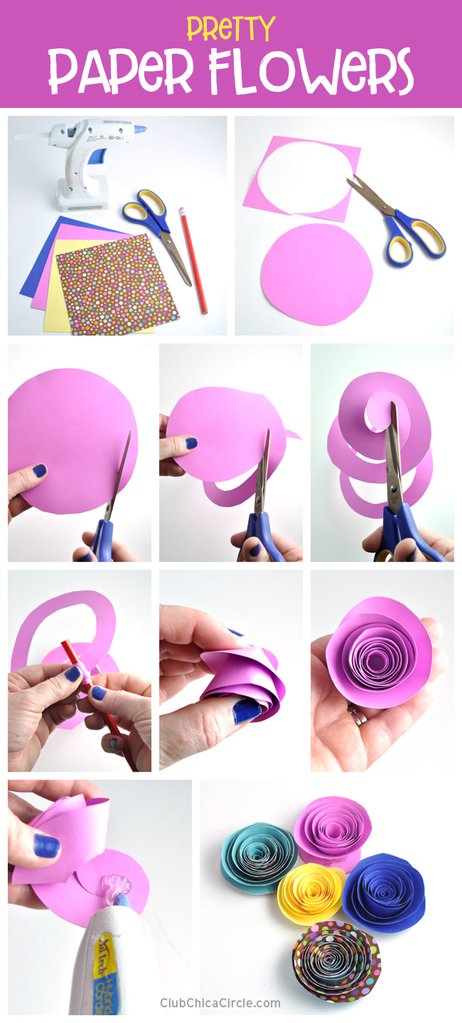 Pretty Paper Flower DIY @chicacircle