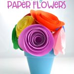 Pretty Paper Flower topiary home decor craft idea