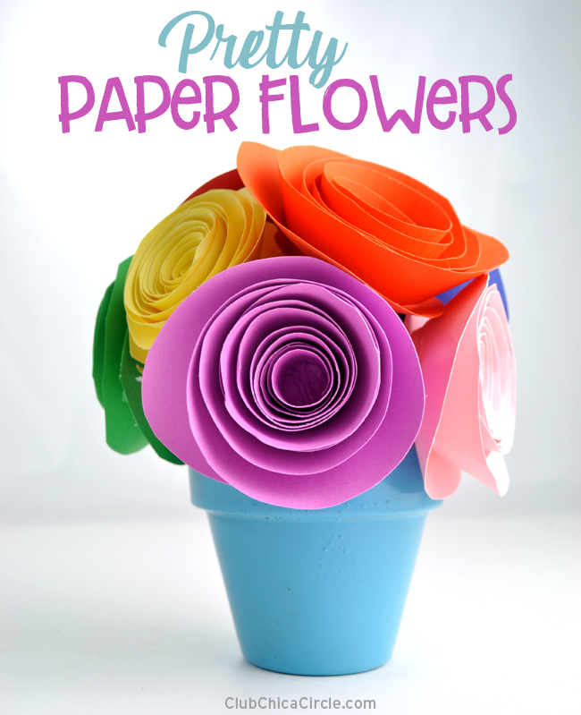 Pretty And Super Easy Paper Flower Tutorial
